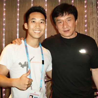 Alfred Hsing, Jackie Chan in Beijing after Sport Accord Combat Games