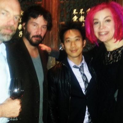 Hugo Weaving, Keanu Reeves, Alfred Hsing, Lana Wachowski