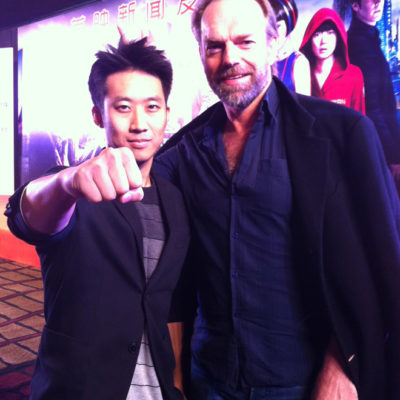 Alfred Hsing and Hugo Weaving
